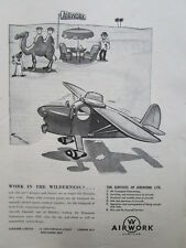 12/46 PUB AUTOMOBILE AIRCRAFT SNAIL ESCARGOT / AIRWORK CAMEL CHAMEAU DESERT AD