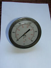 "Stainless Steel 4"" Pressure Gauge 0-400 PSI Hydraulic/Water/Steam/Air"