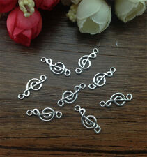Wholesale 20pcs Tibet silver Music Charm Pendant beaded Jewelry Findings