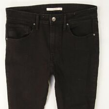 Ladies Womens Levis 721 HIGH RISE SKINNY Stretch Black Jeans W30 L32 UK Size 10