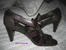 COLE HAAN Women's Open Toe Sandals-Brown Woven Leather-6.5 B-NIKE AIR TECH-NWOB!
