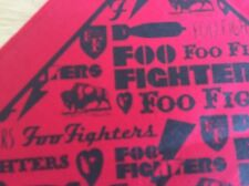 Foo Fighters Bandana Red Black New Free Shipping Dave Grohl Taylor Hawkins