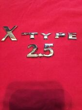 02 03 04 05 06 07 08 JAGUAR X-TYPE 2.5 REAR EMBLEM LOGO BADGE SIGN SYMBOL