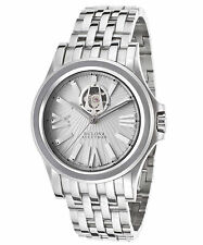 Mens Bulova Accutron 63A102 Kirkwood Swiss Automatic SS Silver-Tone Watch