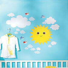 WALLIES BABY SUNSHINE wall stickers 21 decals nursery decor sun clouds stickups