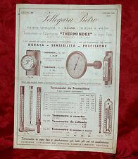 Listino Termometri Thermindex Fellegara Pietro 1938