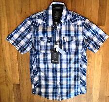 NWT XIOS of New York, Blue Short Sleeve 2 Pocket Sport Shirt Sz M (107)