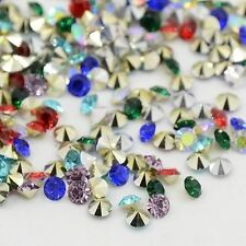 200pcs Grade AAA Pointed Back Resin Rhinestones Diamond Shape Mixed Color 2.0mm