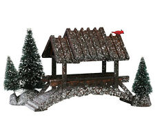 LEMAX CHRISTMAS VILLAGE -WOODEN BRIDGE WITH TREES