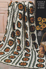 Crochet Pattern ~ COUNTRY SUNFLOWER AFGHAN ~ Instructions