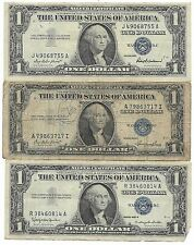 100% Old Rare 1935 1957 US Silver Certificate Collection Lot USA Dollar Bill