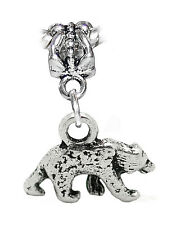 Bear Animal Woods Polar Zoo Trip Camping 3D Dangle Charm for European Bracelets