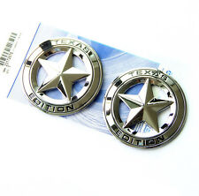2x OEM Chrome Texas Edition Emblem Badge  Tundra Ford Chevy Dodge TRD F