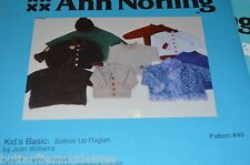 Ann Norling Knitting Pattern Kids Basic Bottom Up Kids Raglan Sweater