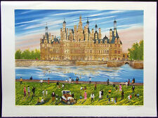 """Dan Gandre """"Le Chateau de Chambord"""" Hand Signed on peper SUBMIT OFFER!"""