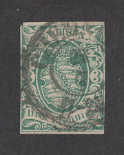 Saxony Sc 2 used 1851 2a green Coar of Arms, CHEMNITZ cds, 4 Margins