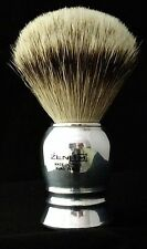 Zenith Aluminum Handle  Silvertip Badger Shave Brush. 24.5mm. Made in Italy. P4