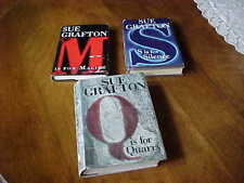 Lot  Three Sue Grafton Detective Series Books Book Hard Covers w Dust Jackets