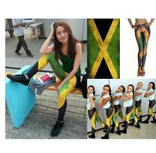 Women Dri Fit Workout Leggings Fitness Sport Gym Running Yoga JAMAICA FLAG Pants