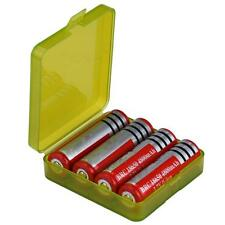 Portable Hard Plastic Battery Case Holder Storage Box for 4x18650 Batteries New