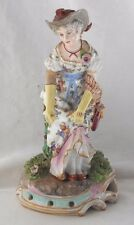 RARE C19TH  FIGURE OF A LADY ON A ROCOCO BASE BY JEUNE GILLE, PARIS A/F