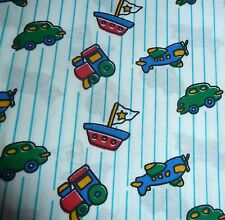 "Boys ""TRANSPORT"" FQ 100% cotton Fabric 48 cm x 57 cm (x2 available)"