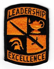 U.S. ARMY R.O.T.C. LEADERSHIP EXCELLENCE PATCH FULL COLOR MINT