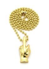 "New MIDDLE FINGER Pendant &3mm27"" Ball Chain Hip Hop Necklace MMP39"