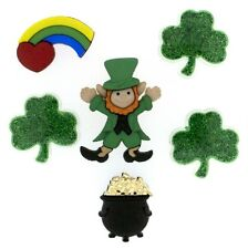 Jesse James - Dress It Up Buttons - St. Patrick's Day - Pot O Gold ~ Leprechaun