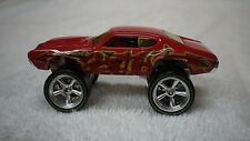 2013 Hot Wheels Red 1970 Donk Bling Olds 442 4X4 Custom Real Riders