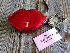 NWT Juicy Couture Bright Poppy Lips Shaped Wristlet