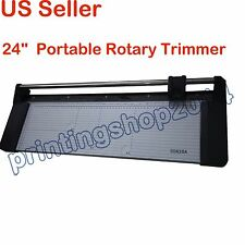 24In Portable Rotary Trimmer Photo Vinyl Paper Cutter 620mm New