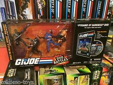 2008 Gi-Joe 25th Anniversary DVD BATTLES MASS DEVICE SET 4 of 5 FIGURE SET MIB
