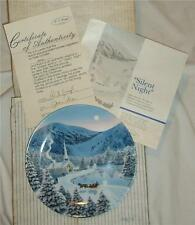 NEW~1990~9844C~W S GEORGE FINE CHINA~JEAN SIAS  SILENT NIGHT COLLECTOR PLATE~COA