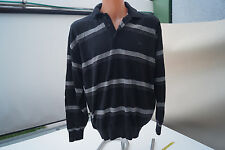 PAUL & SHARK YACHTING Strickpullover Polo Pullover gestreift Gr.L schwarz TOP #l