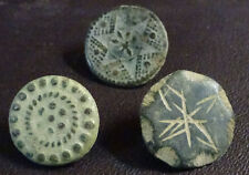 3 SMALL ANTIQUE BUTTON CENTURY XVIII OLD BOUTON BUTTON BOTON SEE MY SHOP CCB27