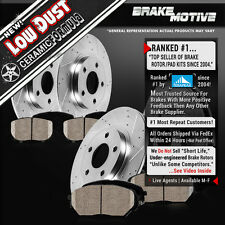 FRONT REAR DRILLED SLOTTED BRAKE ROTORS & CERAMIC PADS Volvo S60 S80 V70 XC70