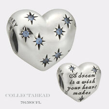 Authentic Pandora Silver Disney Cinderella's Dream Blue CZ Bead 791593CFL