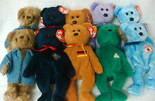 10 Pack Wholesale Lot- Ty Beanies- 5 Bears - 2 each - see listing   +++++     8A