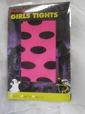 NEON PINK WITH BLACK DOTS ALL OVER. HALLOWEEN - FANCY DRESS AGE 7-10