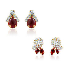 Oviya Combo of Ruby Red ear studs for Women CO1104329G