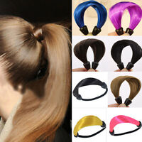 2x Women Straight Wig Elastic Hair Band Rope Scrunchie Ponytail Holder Fashion