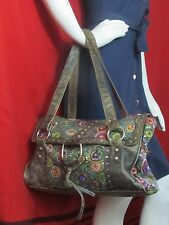 Christiana Leather Oversized Big Sequined Beaded Evening Handbag Purse