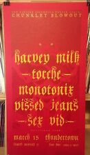HARVEY MILK TORCHE PISSED JEANS SEX VID CONCERT POSTER by Henry Owings Edn of 33