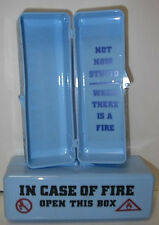 """IN CASE OF FIRE OPEN THIS BOX"" NEW/OLD"