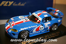 Slot car SCX Scalextric Fly A203 Viper GTS-R 24H Le Mans 2001