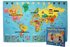 IncStores World Puzzle Play Mat - Large 4ft x 6ft Interlocking Foam Map Puzzle