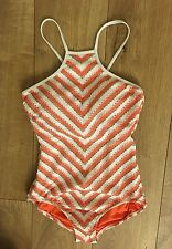 Seafolly Coast to Coast High Neck Strappy Back One Piece Maillot Swimsuit, US 6.