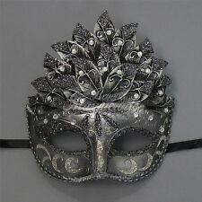 Gray Glitters Venetian Leaf Engraving Masquerade Mask for Women M3237