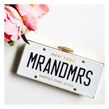 Kate Spade New York Mr&Mrs Wedding Belles License Plate NWT SOLD OUT!